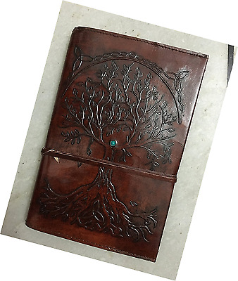 Refillable Leather Journal Writing Notebook, Antique Handmade Daily Notepad