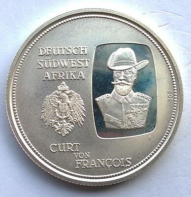 Namibia 1992 100 Years of Windhoek 1oz Silver Coin,Proof,Rare!