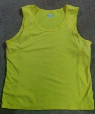 Champion Women's Sleeveless Tank Semi Fitted Workout Shirt Athletic Top Sz L