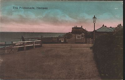 Postcard - View of The Promenade, Hornsea, Yorkshire. Unposted.
