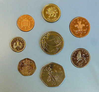 1995 UK Uncirculated coin Year set BU 8-coin Royal Mint pack incl Dove £2