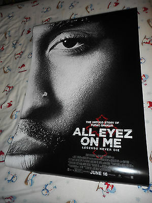 "Tupac Shakur ALL EYEZ ON ME official movie poster one sheet DS 27""x40"" New 2017"