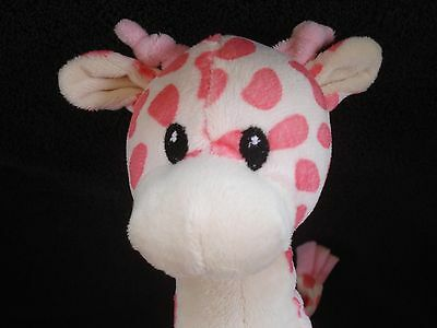 Pink and White Dot Giraffe Infant Rattle Toy