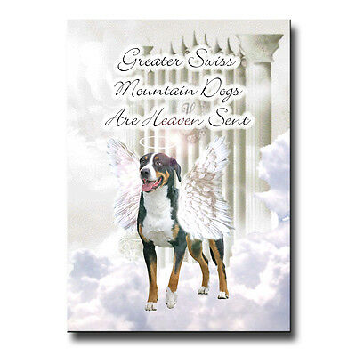 GREATER SWISS MOUNTAIN DOG Heaven Sent FRIDGE MAGNET DOG Pet Loss