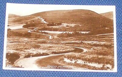 Mountain And Moorland. The Winding Road To Grantown From Tomtintoul - Real Photo