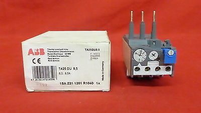 ABB TA25-DU-8.5, Overload Relay NEW IN BOX   6,0-8,5A (3B2)