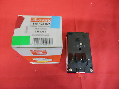 Lovato 11Rf25 075 Thermal Overload Relay .45-.75A *nib* (3B1)