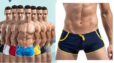 UK Stock Hot Sale Men's Swim Shorts Trunks Briefs Boxer String Swimwear TS020