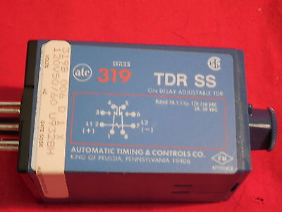 Atc 319B-006-Q-1-X *new* 120V Relay 319 Series Tdr Ss