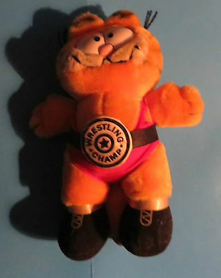 1980's GARFIELD WRESLING CHAMP COLLECTIBLE 11'INCH TOY DOLL