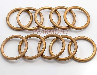 36x44.5x4.2mm Copper Exhaust Gasket Honda CB750 Nighthawk 18291-MW3-600 10 Pack
