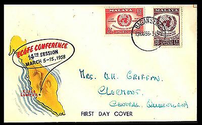 1958 Malaysia Map Ecafe Conference Cover S50