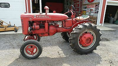 Farmall A wide front gas tractor. 540 pto w/belt pulley. Good tires.