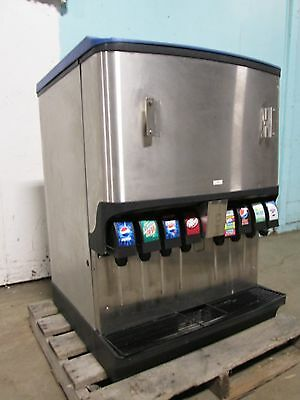 """servend Ngf-250"" Commercial Counter Top Lighted 8 Heads Soda + Ice Dispenser"