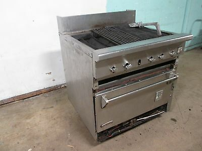 """SNORKLER/WOLF"" HD COMMERCIAL NATURAL GAS RADIANT CHARBROILER w/CONVECTION OVEN"