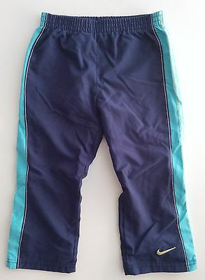 Unisex Toddler Boys Girls Nike Lined Blue Teal Activewear Pants, Size 2t