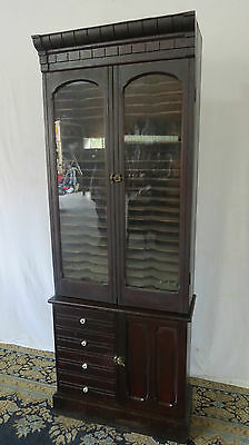 Victorian Mahogany Music Cabinet File Rare Antique
