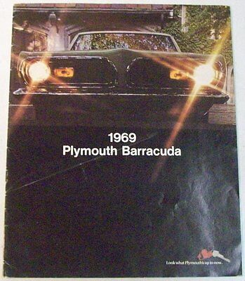 1969 Plymouth Barracuda Cuda Formula S Mod Top Sales Brochure