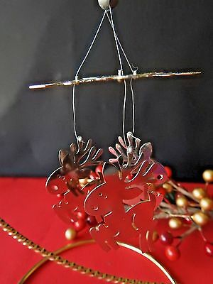 Hallmark Ornament 1978  Reindeer Chimes Chrome Plated Brass No Box