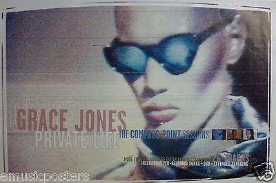 "GRACE JONES ""PRIVATE LIFE: COMPASS POINT SESSIONS"" U.S. PROMO POSTER - New Wave"