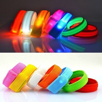 NEWEST LED Light Up Multi Color Glow Glowing Wristband Bracelet Disco Party Bar