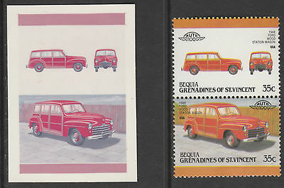 Bequia 3590 - 1987 CARS  1948 FORD STATION WAGON CROMALINCOLOUR  PROOF