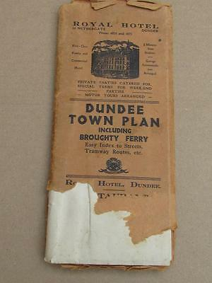 Vintage Old Dundee Broughty Ferry Town Scottish Map - Cheap Buy It Now