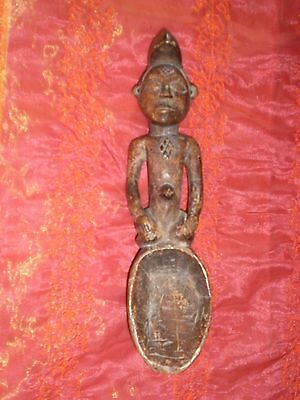 Objet Cuillere Africaine Tres Ancienne