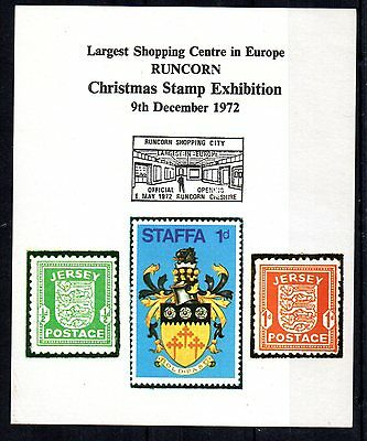 1972 GB RUNCORN Christmas Stamp Exhibition Souvenir Sheet - unmounted mint