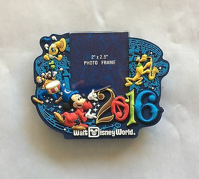 New Disney Parks Walt Disney World 2016 Magnetic Photo Frame Mickey Mouse Magnet