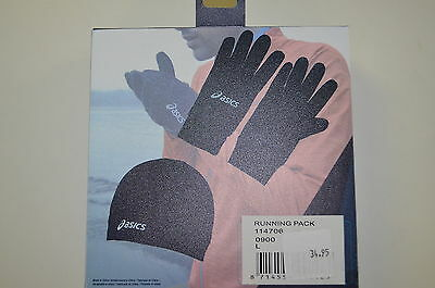 Asics Running Pack 114706 black Gloves & Hat