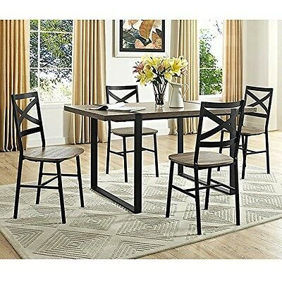 WE Furniture TW60UBTAG 60 In Urban Blend Wood Dining Table - Driftwood NEW