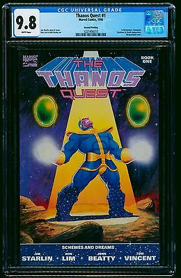 The Thanos Quest 2nd Print #1 CGC NM/M 9.8 White