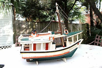 """Vintage 1960 Hand Carved and Built Caribbean Fishing Boat """"Chaca Chacare"""""""