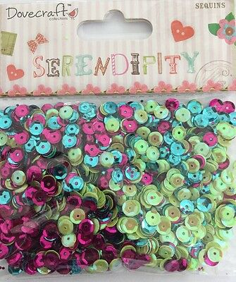 Pretty Colourful Dovecraft Serendipity Sequins For Cards Scrapbooking Crafts