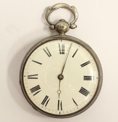 C:1868 .925 Silver Fusee Pocket Watch R.V.French Maidstone London running nice