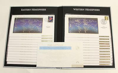Millennium Postal Cover Collection - Franklin Mint Stamps World Time Zones - NEW
