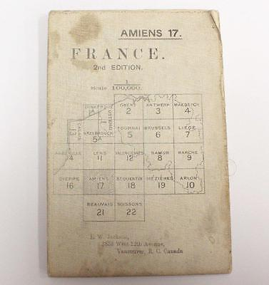 Amiens France WW1 linen War Office 1915 colour map 33.5 x 25.5 inches