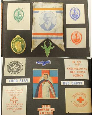 Unique South Africa & WW2 related Mini poster stamp & stickers over 180 in album
