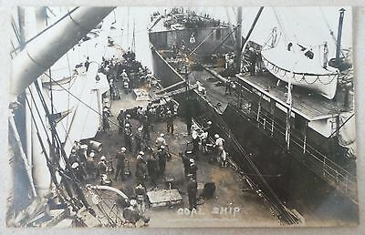 Postcard - Circa 1910 Loading Of A Coal Ship - Social History - Unposted - Rp