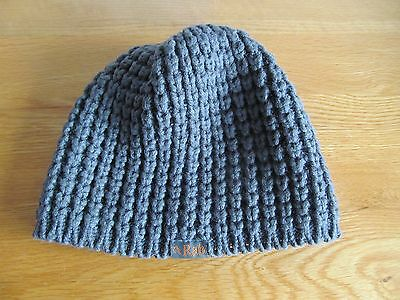 Women's grey chunky knit Rab beanie hat - one size - excellent condition