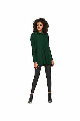 South Cowl Neck Trapeze Jumper in Dark Green Size 10
