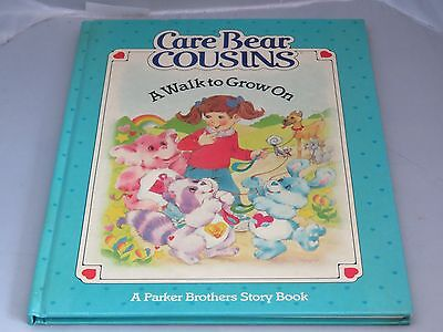 Care Bear Cousins A Walk to Grow On Parker Bros story book - HC - 1985
