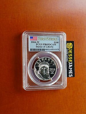 2016 W $100 Proof Platinum Eagle Pcgs Pr69 Dcam Flag First Strike One Oz .9995