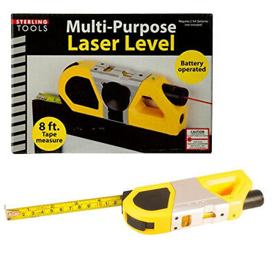 Sterling Tools Multi-Purpose Laser Level with 8ft Measuring Tape & Suction Mount