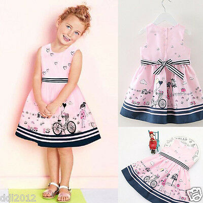 Girls Baby Toddler Kids Dress Summer Princess Pageant Party Wedding mini Dresses