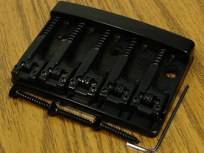 NEW Schaller High Mass 5 String Bass BRIDGE Black Adjustable w/ Rollers Badass