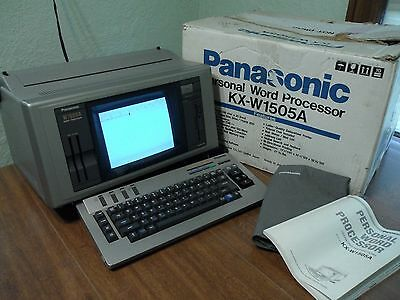 Vintage Panasonic Word Processor W1505  KX-W1505A w/ Box & Manual Clean & Tested