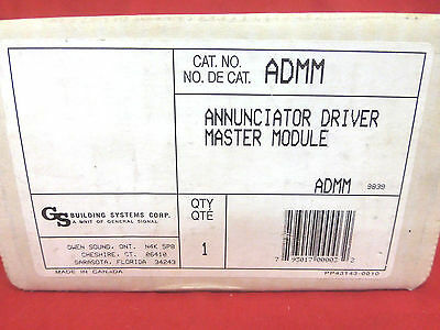 General Signal Admm, 130279, 140279 *new* Annunciator Driver Master Module (2E2)