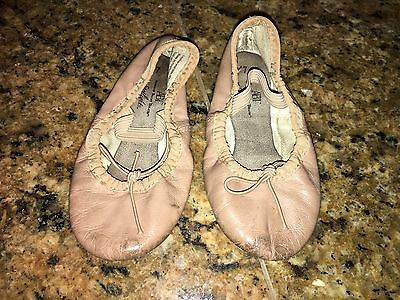 Toddler Girls American Ballet Theatre Pink Leather Ballet Dance Shoes Size 7